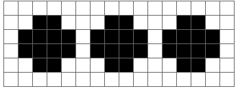 Grid with black-filled pixels